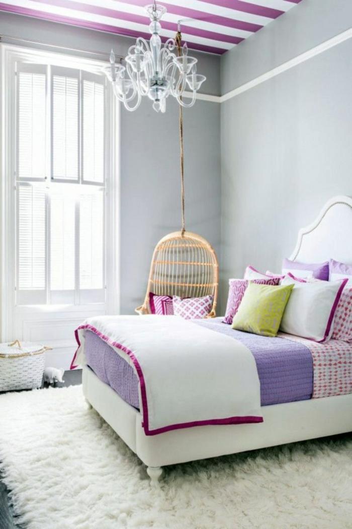 Papier peint pour chambre chambre gris clair chambre couleur pastel rose et purple