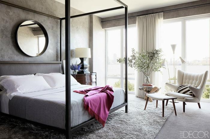 Chambre violet et gris deco chambre romantique idee chambre couleur