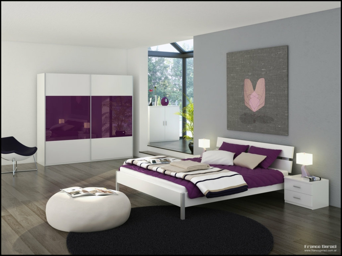 Awesome Couleur Chambre Gris Et Mauve Gallery - House Design ...