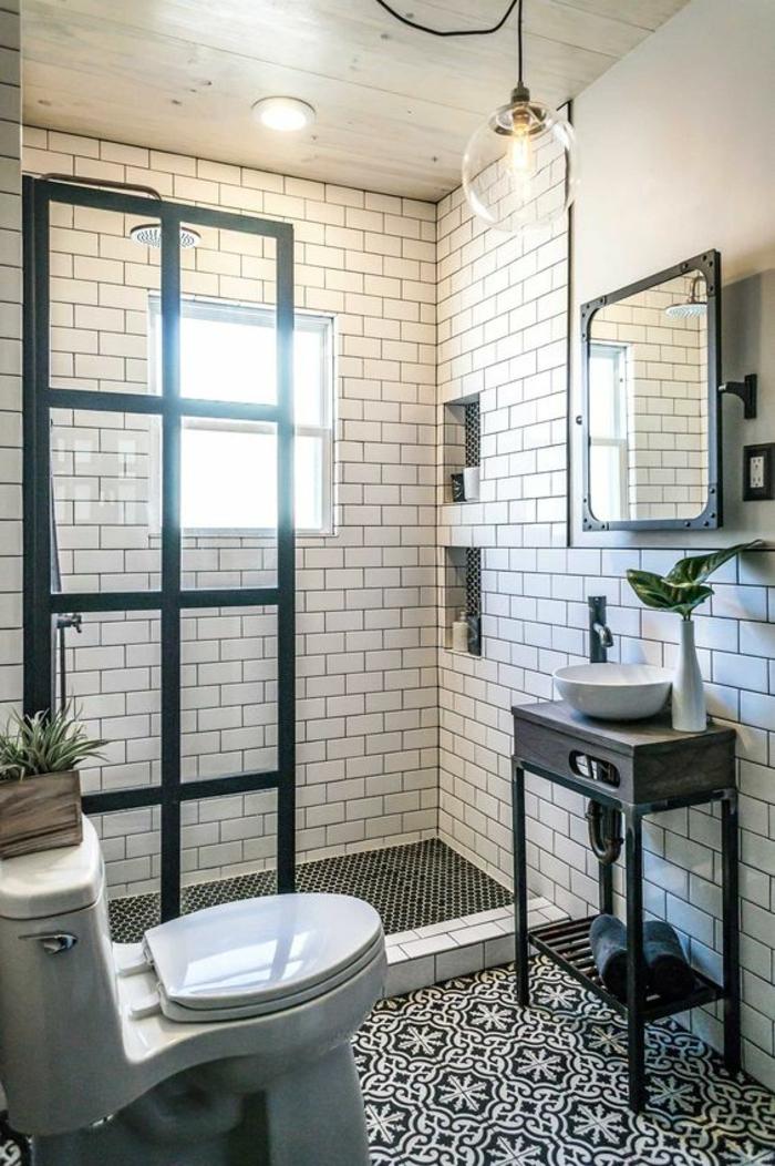 1001 id es pour am nager une petite salle de bain des for Douche dans petite salle de bain