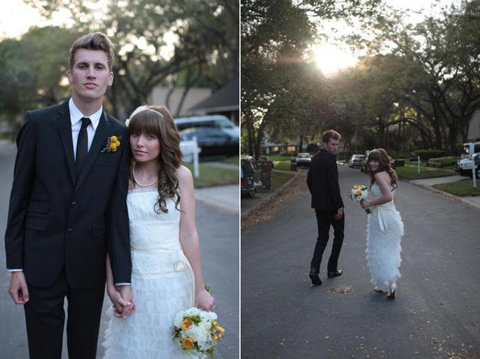 séance photo originale dans la rue, photo de couple décontractée