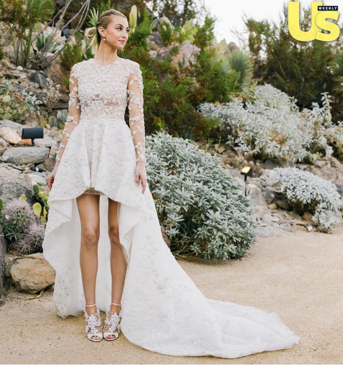 Chic robe de mariée dentelle idée quelle robe mariée dentelle courte devant longue derriere