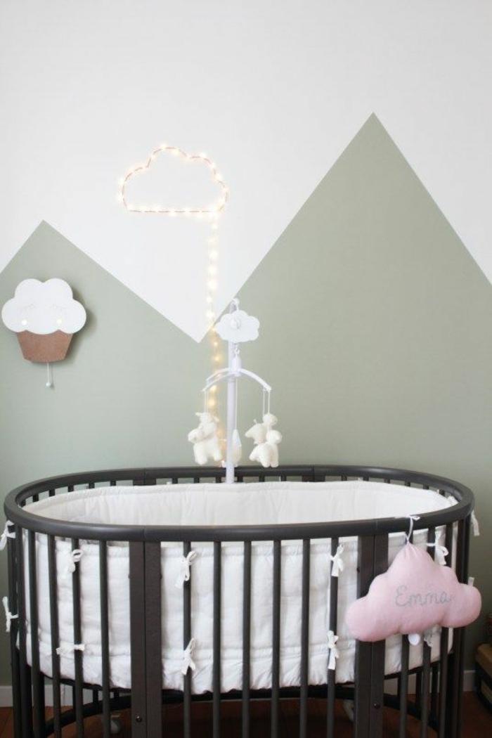 couleur gris perle nuances grisatres chambre d enfant avec lit rond de bébé