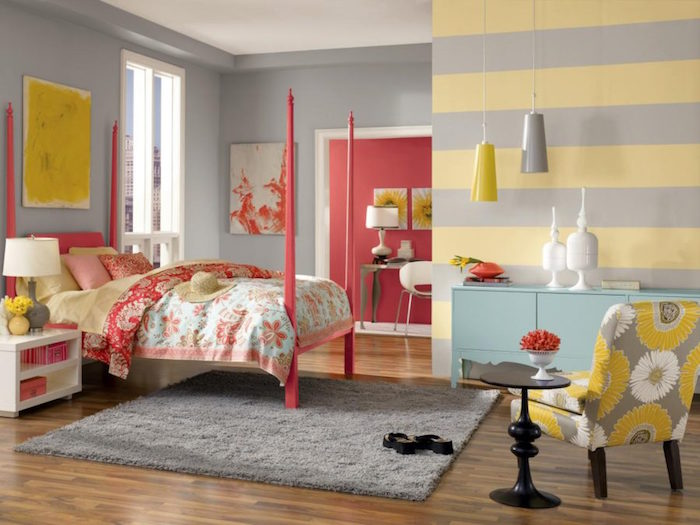 1001 id es d co et int rieur couleur corail plongez dans nos 42 id es. Black Bedroom Furniture Sets. Home Design Ideas