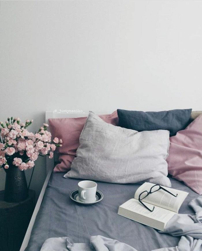 Mur violet chambre violet et gris chambre bleu et beige couleur violet foncé