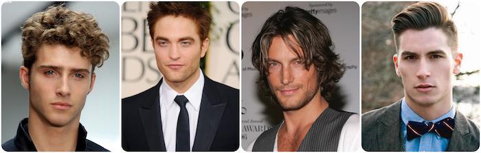 modele de coiffure, célébrités aux visages en forme de losange, coiffure homme au visage diamant