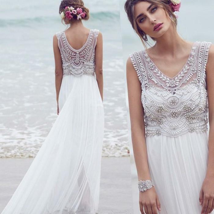 Chic robe de mariée dentelle idée quelle robe mariée dentelle bohème chic robe de mariée au bord de la mer robe vintage