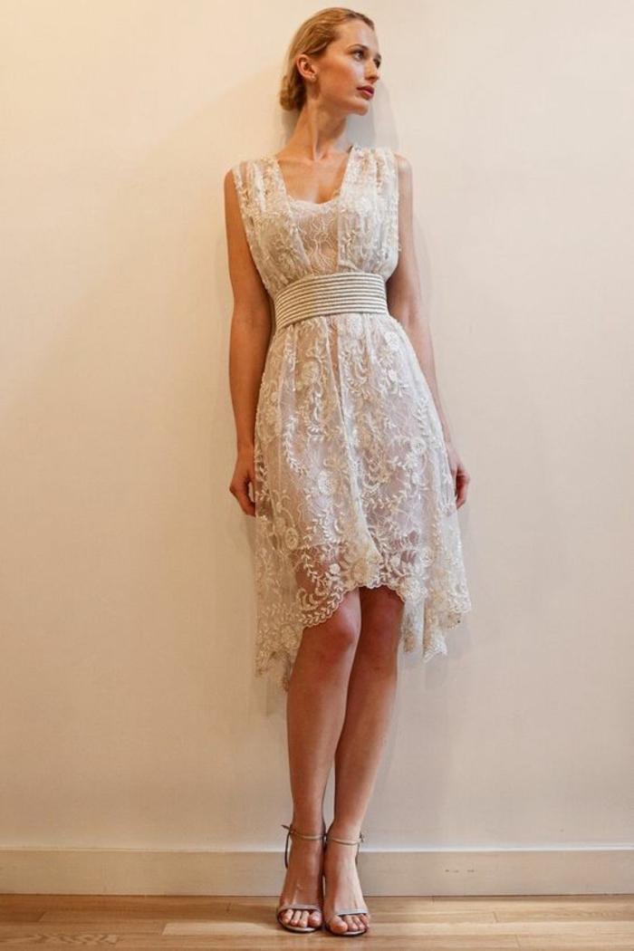 Formidable robe de mariee pas cher robe mariée courte mariage original rétro