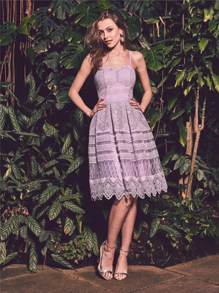 Jolie robe longue pour mariage robe ceremonie mariage demoiselle violet belle robe dentelle