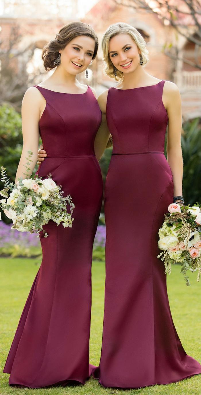 Chouette robe de cocktail pour mariage robe habillée pour mariage robe longue rouge bordeaux