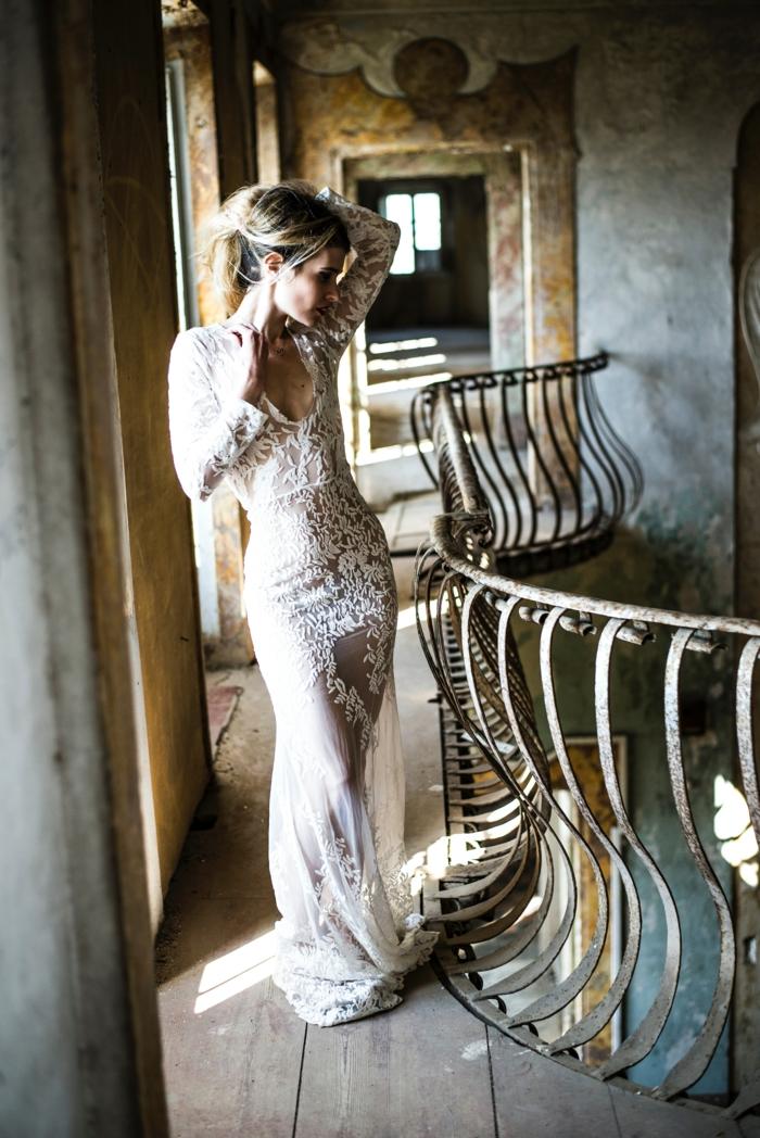 Magnifique robe mariée bohème robe de mariée haute couture