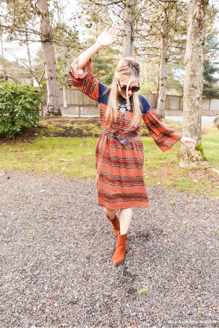 Top hippie chic flower power hippie comment s habiller en hippie robe