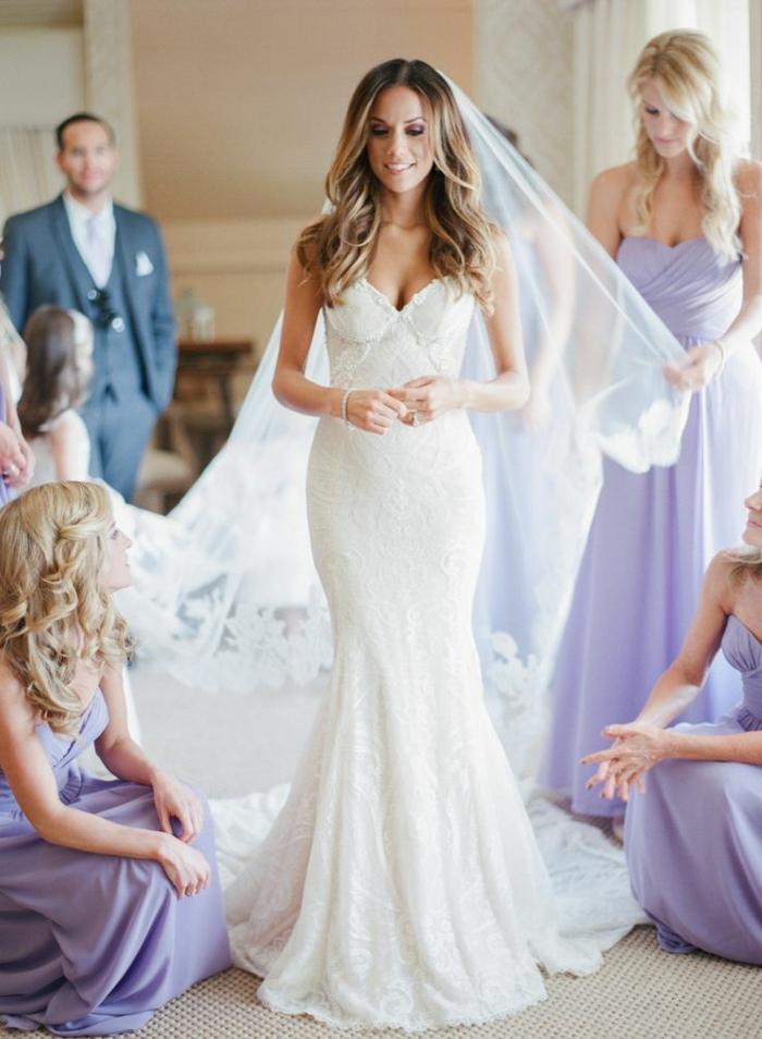 Quelle robe de mariée boheme robe de mariée dentelle sirène belle