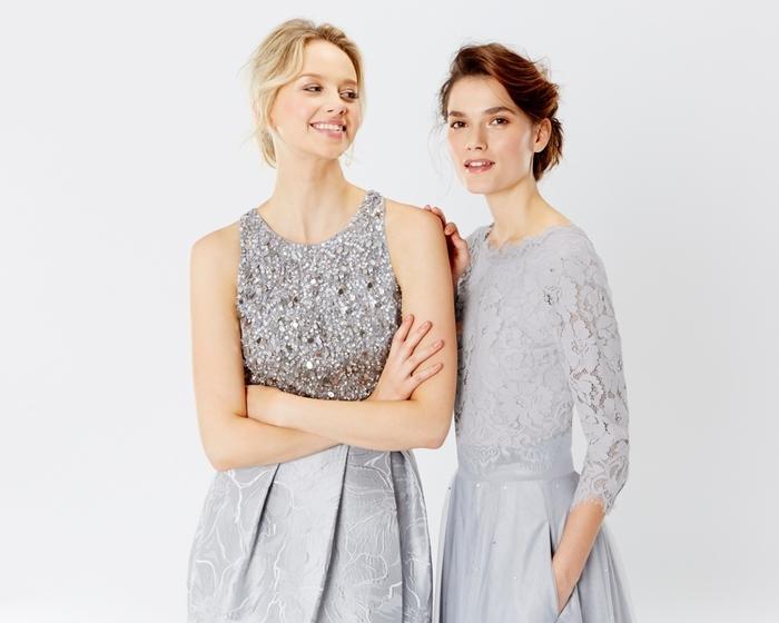 mettez en valeur la personnalité de chaque fille d'honneur en optant pour une robe deux pièces qui mixe les matières et les effets