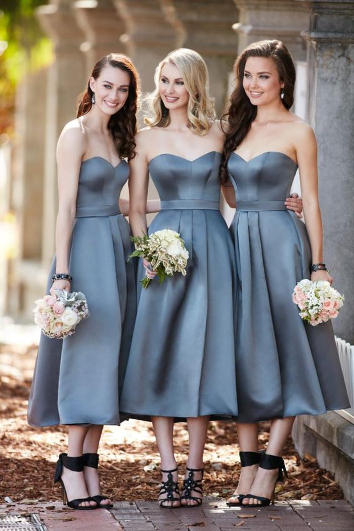 de jolies robes de cérémonie en satin