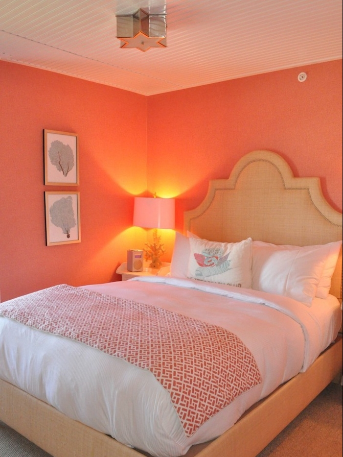 Emejing chambre orange rose photos design trends 2017 - Chambre fille peinture ...