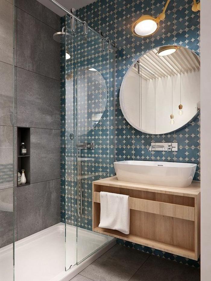 1001 id es pour am nager une petite salle de bain des for Petit miroir rond