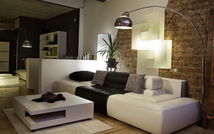 canapé design salon moderne idée deco originale séjour