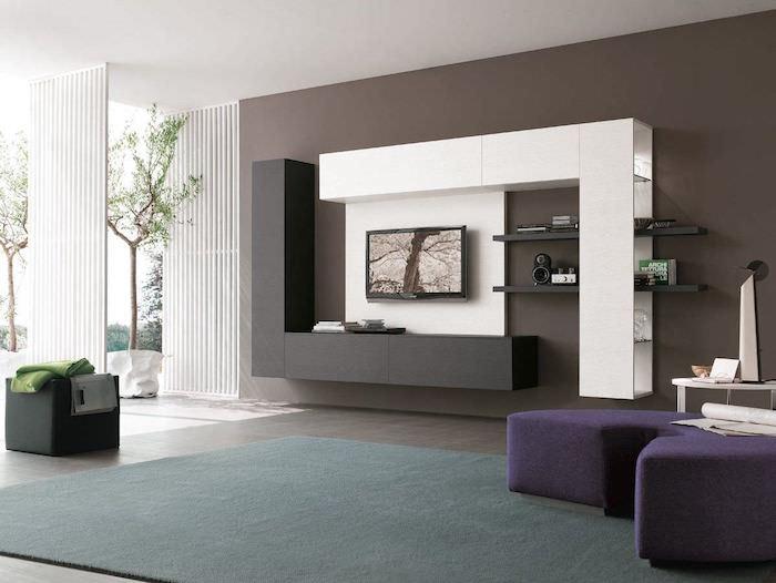 meuble salon moderne design grand espace minimaliste