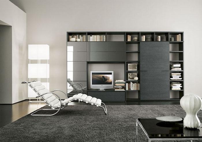 deco sejour design minimal avec chaise longue intérieur