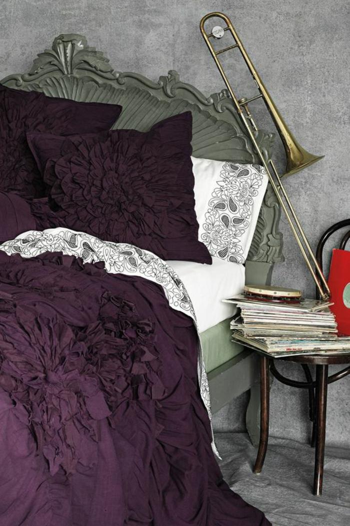 Prune couleur deco chambre zen modele chambre peinture violine