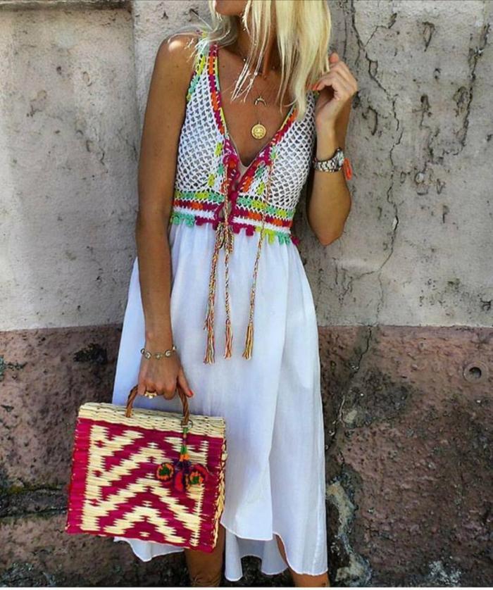 Idée tenue hippie les années hippies vetement boheme femme