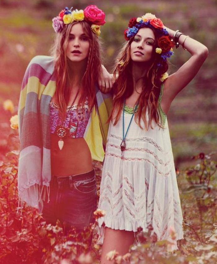 1001 id es pour la tenue hippie chic qui aider se - Look hippie femme ...