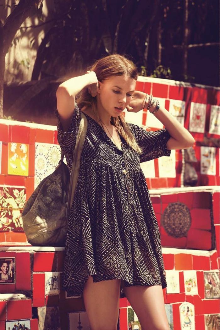 Belle tenue hippie chic look hippie robe style hippie chic robe hippie tenue