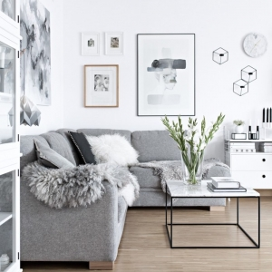 Cocoonez votre intérieur avec un salon scandinave. Règles d'or et idées chic pour une déco réussite
