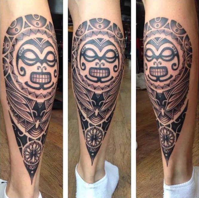 Tatouage Mollet Homme Maori 3dliveproject