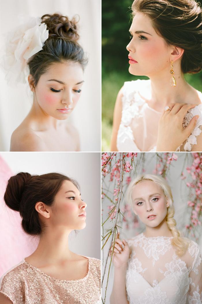 un maquillage mariée naturel qui mise sur le teint rosé et la beauté naturelle