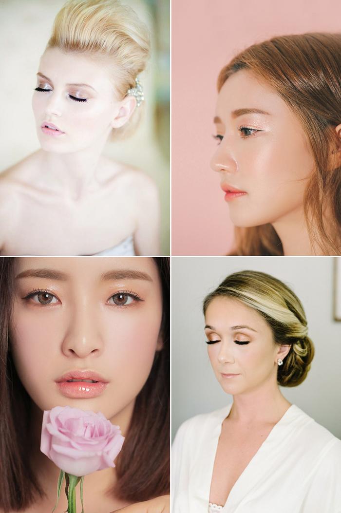 idée maquillage tendance pour un effet bonne mine et un look naturel, des paupières brillantes pour un regard lumineux
