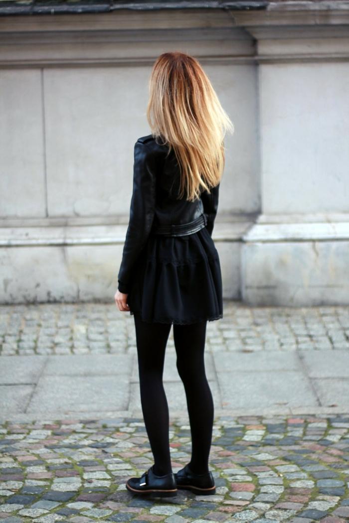 La tenue de sport fille habiller swag tenue noire total cool idée chaussures décadent