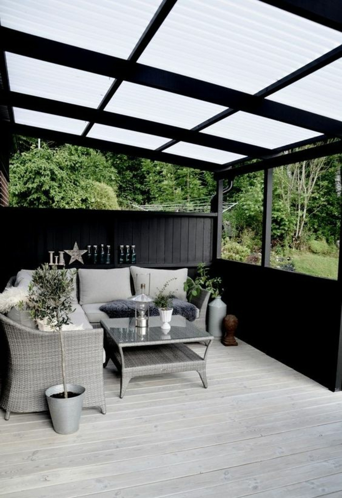 1001 id es pour votre terrasse couverte les r alisations. Black Bedroom Furniture Sets. Home Design Ideas