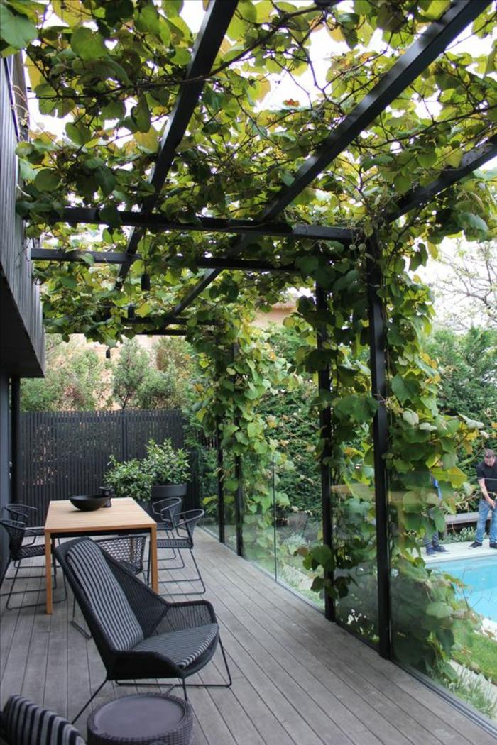 terrasse couverte en alu terrasse couverte en alu et polycarbonate taupe achat terrasse. Black Bedroom Furniture Sets. Home Design Ideas