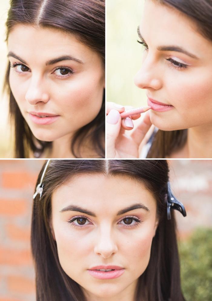 comment créer un look de mariée monochrome, tutoriel maquillage facile à reproduire pour débutants