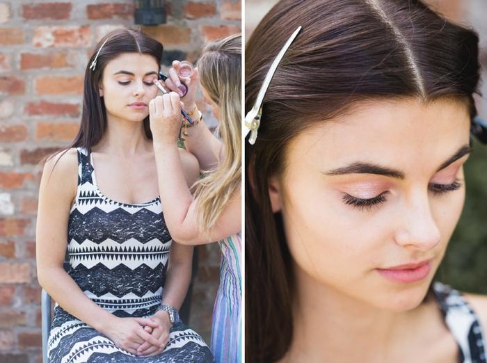 un tutoriel maquillage facile à reproduire pour un maquillage monochrome aux nuances de rose, look de mariée romantique et naturel
