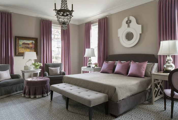 Awesome Chambre Mauve Et Gris Ideas - House Design - marcomilone.com