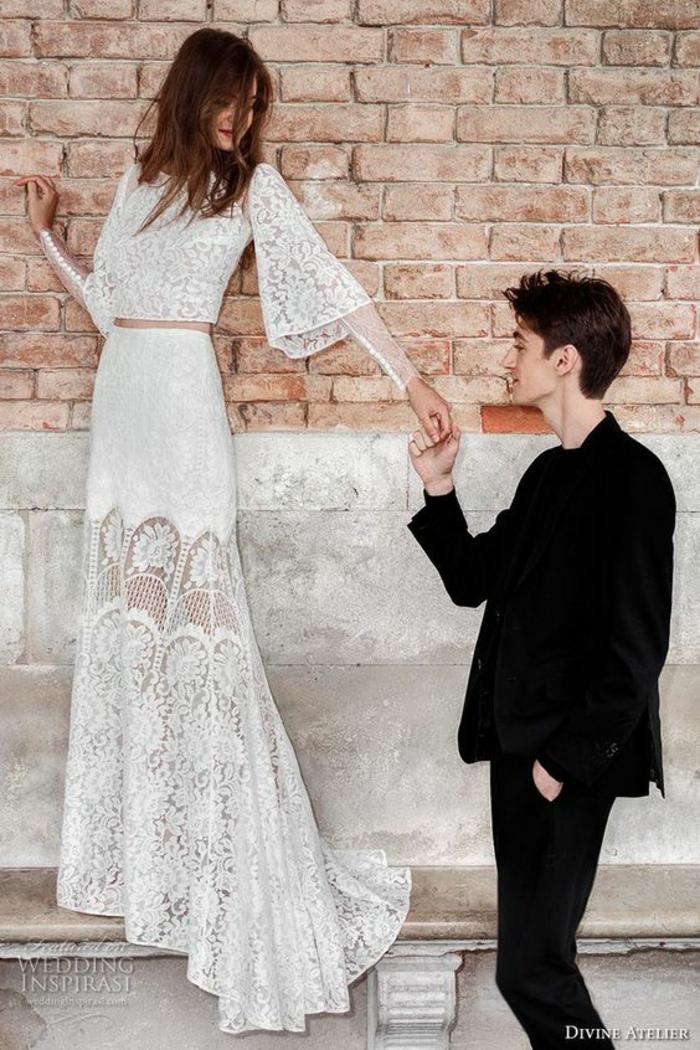 Mariage champetre robe mariée originale robes de mariée courtes