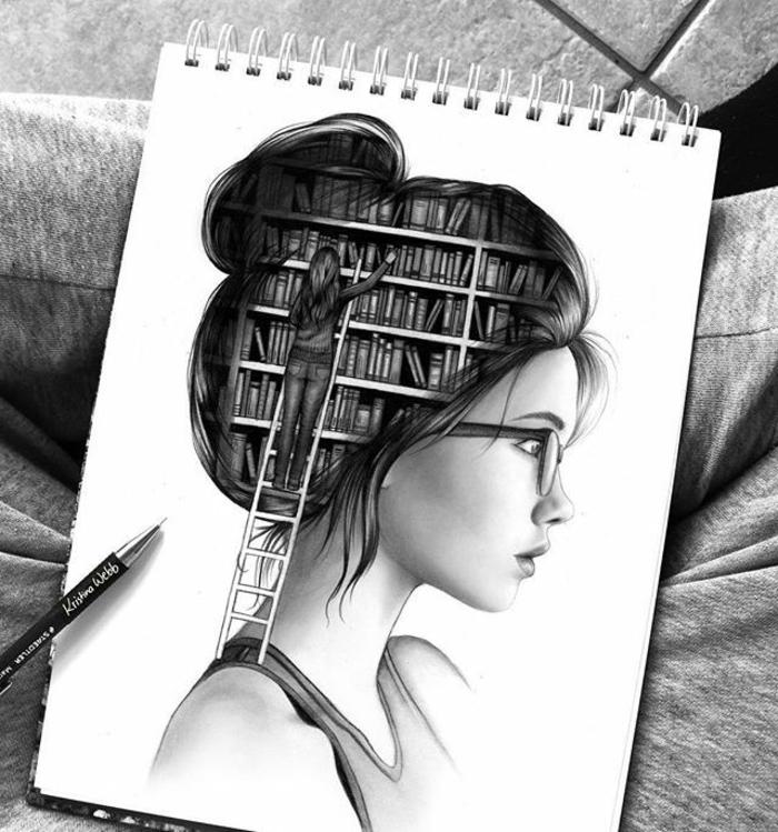 1001 images pour le dessin fille parfait des id es - Supports magazines simples fois tres design ...