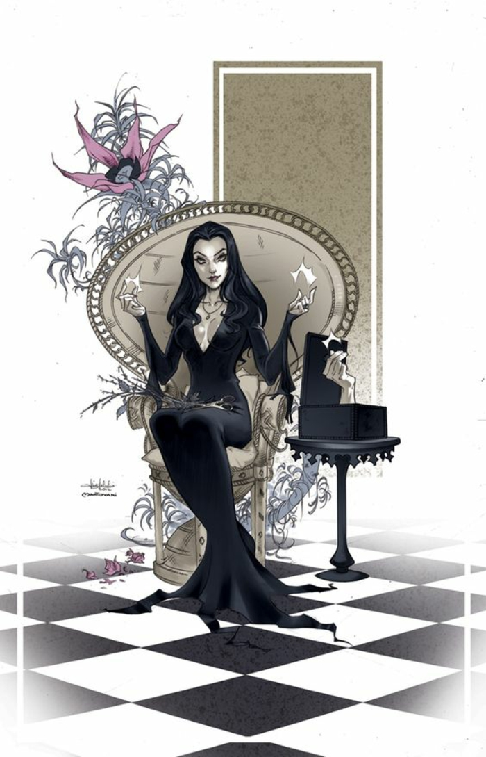 Addams family names morticia addams family values morticia de la famille addams