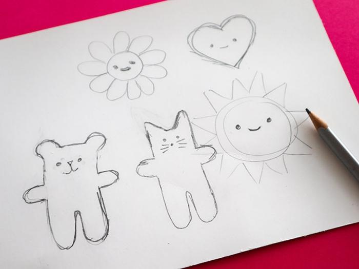 Blog couture facile tuto couture pochette superbes idées dessin à transformer en jouet cadeau