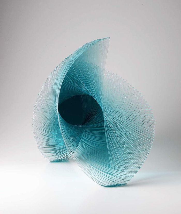 Niyoko Ikuta ku sculpture en verre japon japonais oeuvre geometrie
