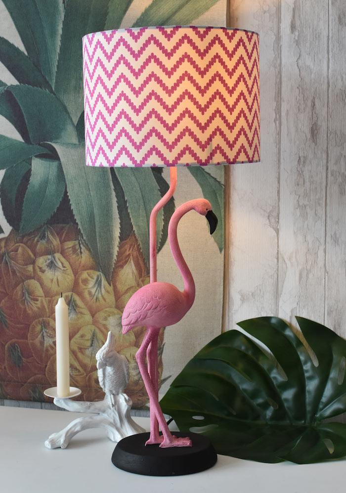lampe de chevet, peinture à motif ananas, feuille verte artificielle pour décoration tropicale