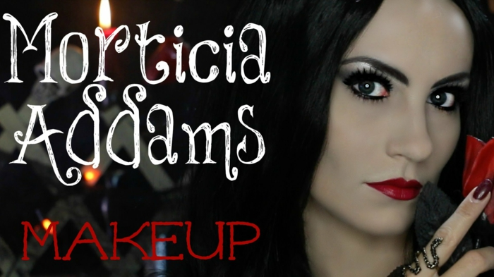 Maquillage morticia addams famille addams la chose image comment se maquiller comme sorcière