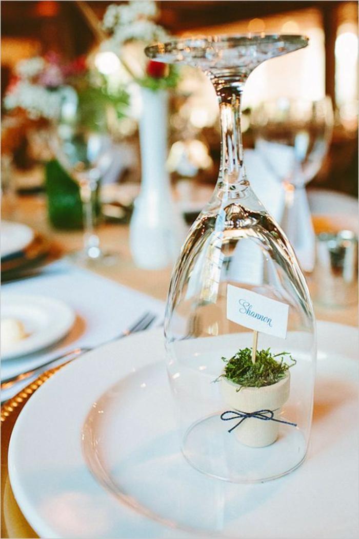 Belle idée marque place mariage original décoration idée avec les glaces