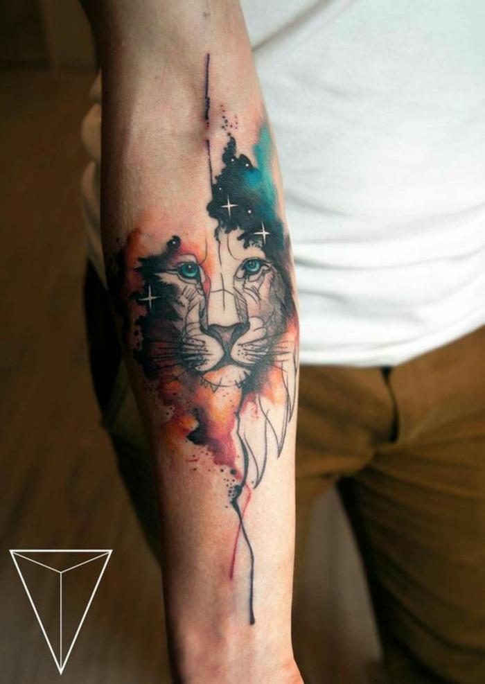 Tatouage Lion Avant Bras Couleur Kolorisse Developpement