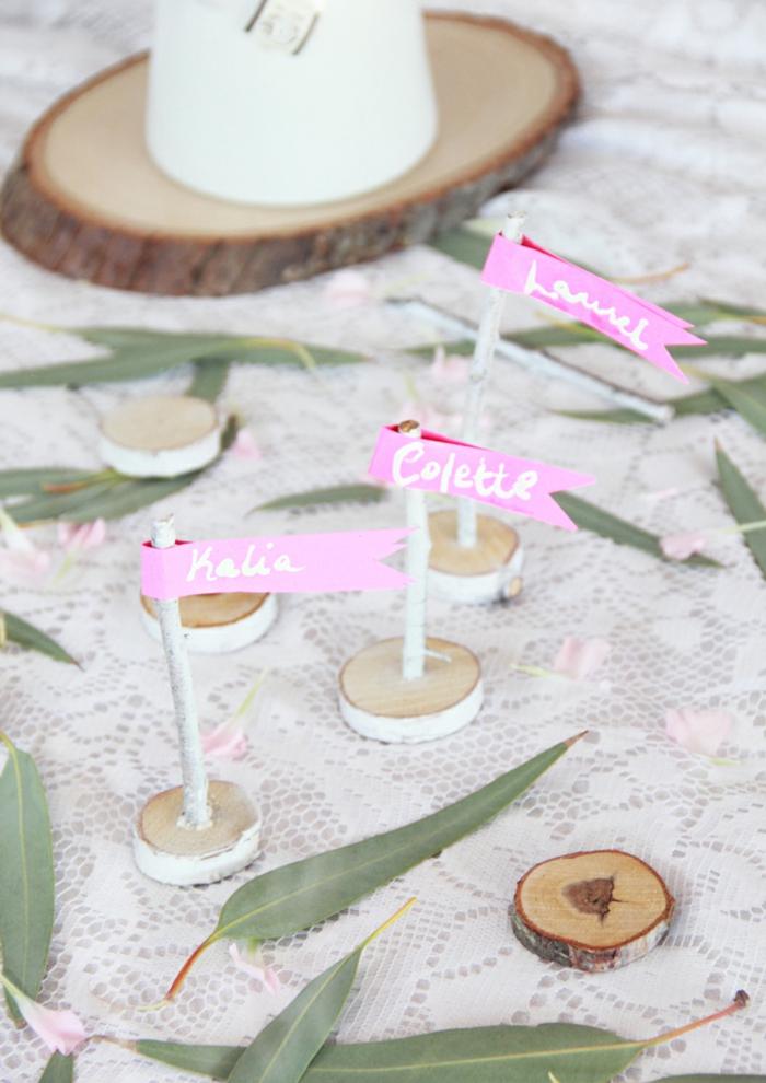 La marque place a faire soi meme porte nom anniversaire champetre mariage décoration