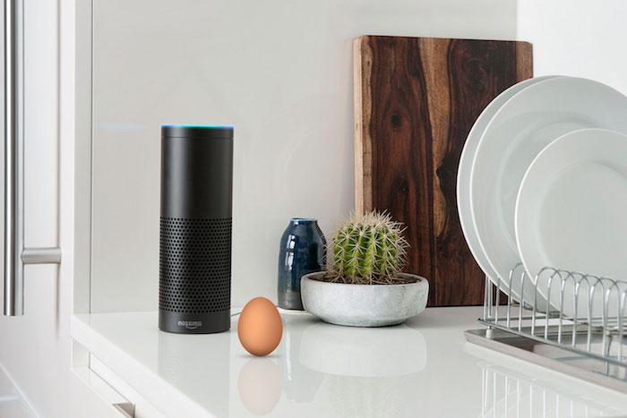 amazon echo, appareil électronique interactif qui aide dans le quotidien et reconnaît la voix humaine
