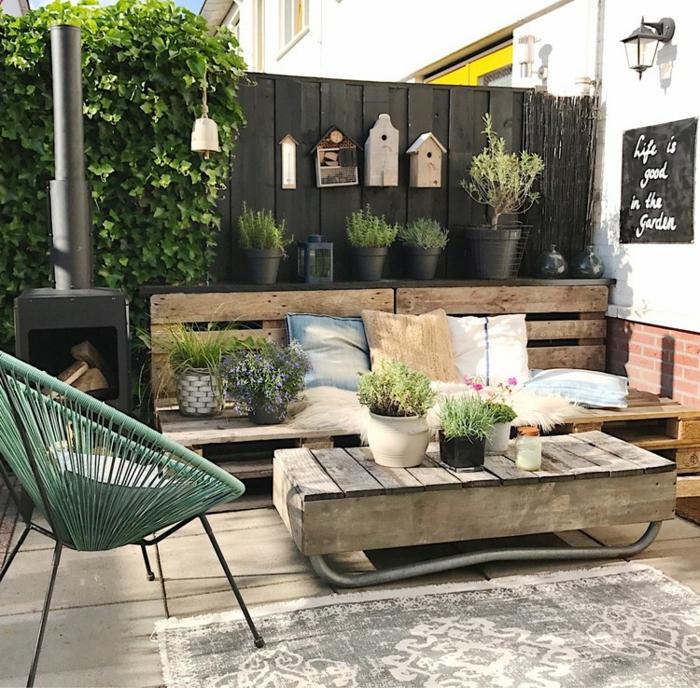 amenagement jardin exemple d aménagement de jardin avec table en pallettes